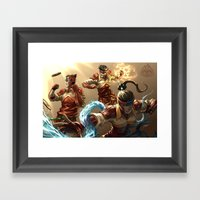 Fire Ferrets Framed Art Print