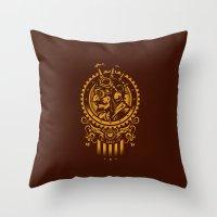Steampunk 1852 Throw Pillow