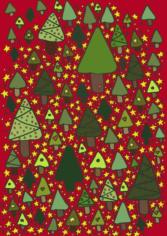 Christmas Tree Wonderland Art Print
