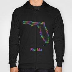 Rainbow Florida map Hoody
