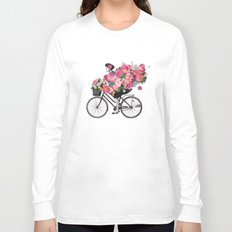 floral bicycle  Long Sleeve T-shirt