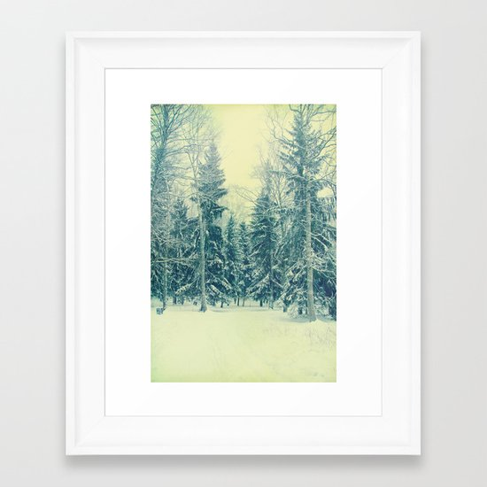 Once upon a December Framed Art Print