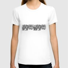 Zebra Print Womens Fitted Tee White SMALL