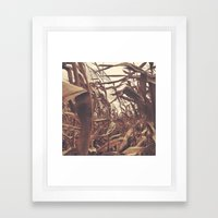 This pretty much sums up today's ride... Framed Art Print
