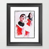 Nana's Carolers Framed Art Print