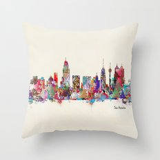 San Antonio Texas skyline Throw Pillow