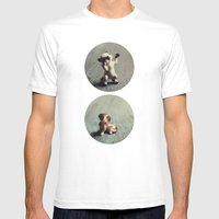 Cats & Dogs Mens Fitted Tee White SMALL