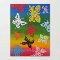 colorful Butterflies (1) Canvas Print