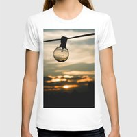 Unlit Sunset.  Womens Fitted Tee White SMALL