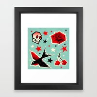 Swallow The Cherry Framed Art Print