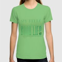 GoodLife Womens Fitted Tee Grass SMALL