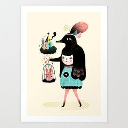 Art Print - Lady Bird - Muxxi