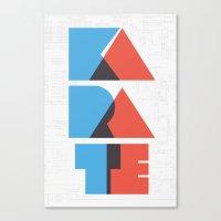 Karate Circuitry Canvas Print