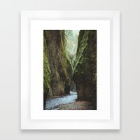 Oneonta Gorge Framed Art Print
