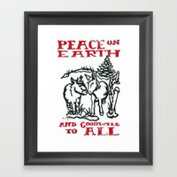 Peace On Earth 2014 III Framed Art Print