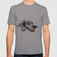 Spotted Dog Mens Fitted Tee Athletic Grey SMALL