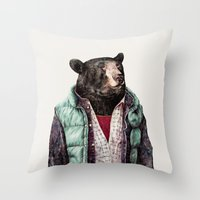 Black Bear Throw Pillow