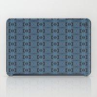 Blue Doodle Geometry  iPad Case