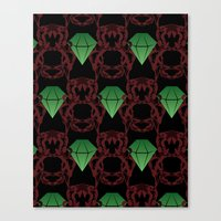 Emeralds & Demons [BLACK] Canvas Print
