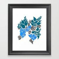 Blue Number 2 Framed Art Print