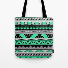 art deco stripes - green & pale purple Tote Bag
