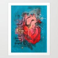Heavy Heart Art Print