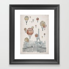 Voyages Over Paris Framed Art Print