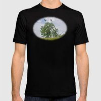 The buzzard tree Mens Fitted Tee Black SMALL