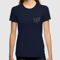 Geo Womens Fitted Tee Navy SMALL