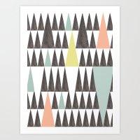 Triangle Pattern Art Print