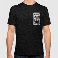 Rebel Base Mens Fitted Tee Tri-Black SMALL