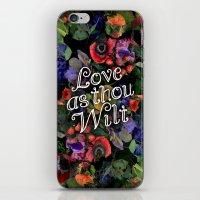 Love as thou wilt iPhone & iPod Skin