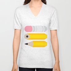 Deconstructed Pencil Unisex V-Neck