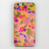 WILDFLOWER FANCY 2 - Cheerful Pink Lovely Floral Garden Pattern Girly Feminine Trendy Flowers iPhone & iPod Skin