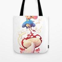 Girl and Shroom Tote Bag