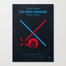 No591 My SW Episode VII minimal movie poster Canvas Print