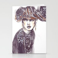Fashion Sketches In Mixe… Stationery Cards