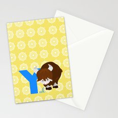 y for yak Stationery Cards