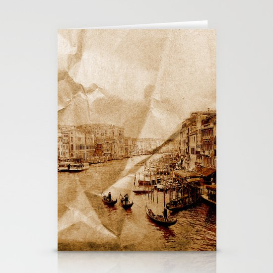 Creased Memories II Stationery Card