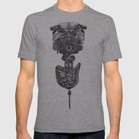 Machine Mens Fitted Tee Athletic Grey SMALL