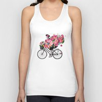 floral bicycle  Unisex Tank Top