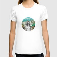 Falling Free Womens Fitted Tee White SMALL