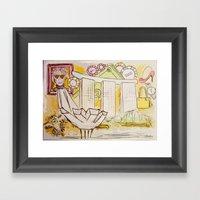 Andy Shaped (war)Hols Framed Art Print