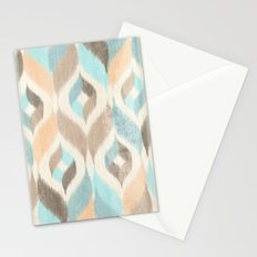 Soothing Waves Ikat Stationery Cards