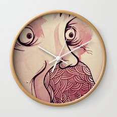 In Your Face Mr. Moustache Wall Clock