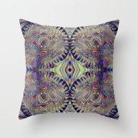 84-26-49 (Mandala Glitch) Throw Pillow