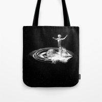 Surfing gravitational waves Tote Bag