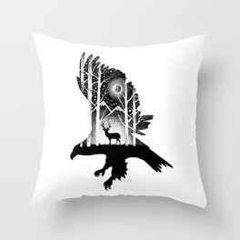 Throw Pillow - THE EAGLE AND THE DEER - Thiago Bianchini