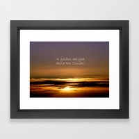 Golden Delight Framed Art Print