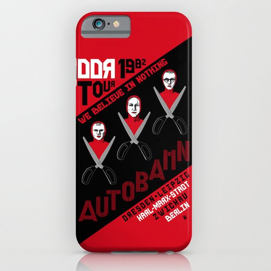 Autobahn--East German Tour 1982 iPhone & iPod Case